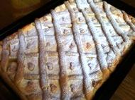 Linecký mřížkový koláč s tvarohem